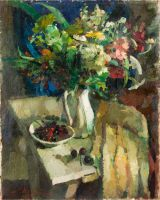 1937 | Cherries and flowers - two sides | oil on canvas 73x92