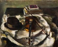 1937 | Hat and violin - two sides | oil on canvas 73x92