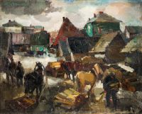 1937 | Town of Vilaka | oil on canvas 81x100