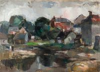 1937 | Village in Latgale | oil on canvas 73x100