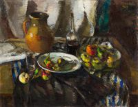 1939 | With fruits and a bottle of wine | oil on canvas 73x92