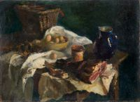 1947 | With bacon | oil on canvas 73x100