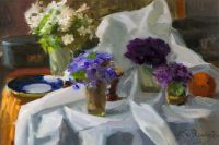 1950 | Violets | oil on canvas 37x53