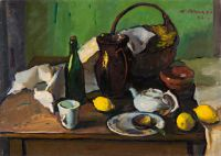 1962 | With tea and lemons | oil on cardboard 73x100