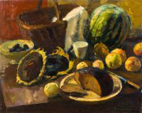 1965 | Bread and sun flowers | oil on canvas 65x81