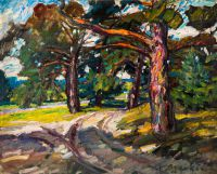 1968 | Pine trees at Jurmala | oil on canvas 81x100