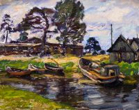 1969 | Fishing port Upesgriva | oil on canvas 56x70