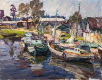 1970 | Fishing port | oil on canvas 56x70