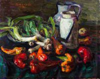 1970 | Red peppers | oil on cardboard 50x60
