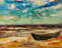 1970 | The sea on a stormy day | oil on cardboard 72x93