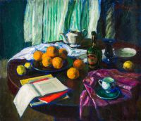1971 | With oranges | oil on canvas 100x116