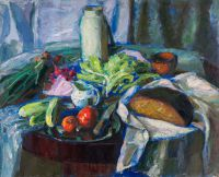 Bread and vegetables | oil on canvas 81x100