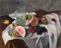 Still life with watermelon | oil on canvas 73x92